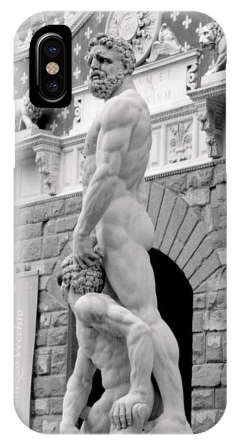 Florence IPhone X Case featuring the photograph Hercules And Cacus by Caroline Stella