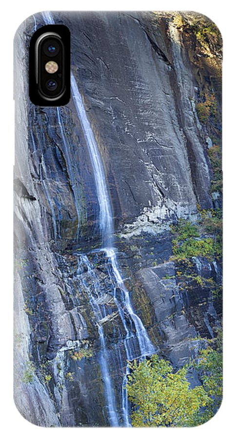 Hickory Nut Falls IPhone X Case featuring the photograph Hickory Nut Falls Chimney Rock State Park by Dustin K Ryan