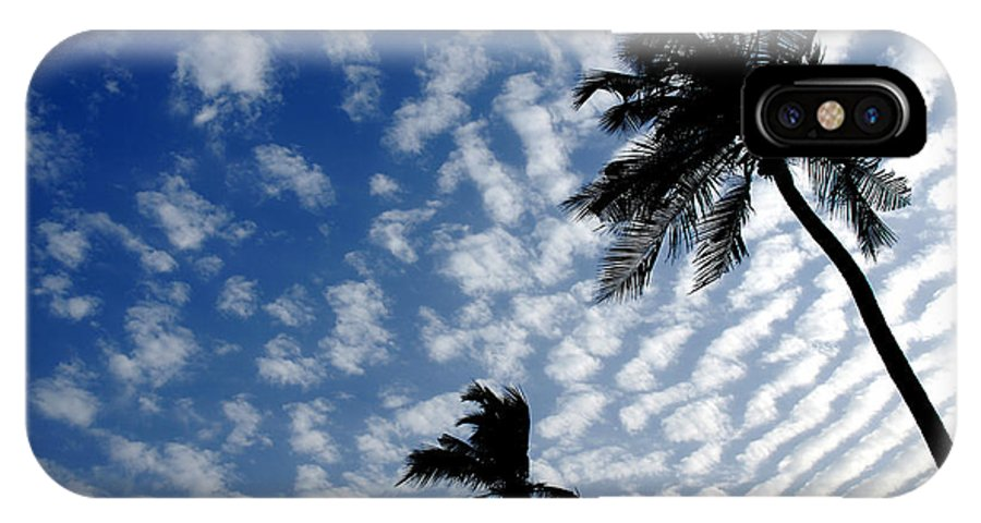 Clouds In Sky IPhone X Case featuring the photograph High In The Sky by Dattaram Gawade
