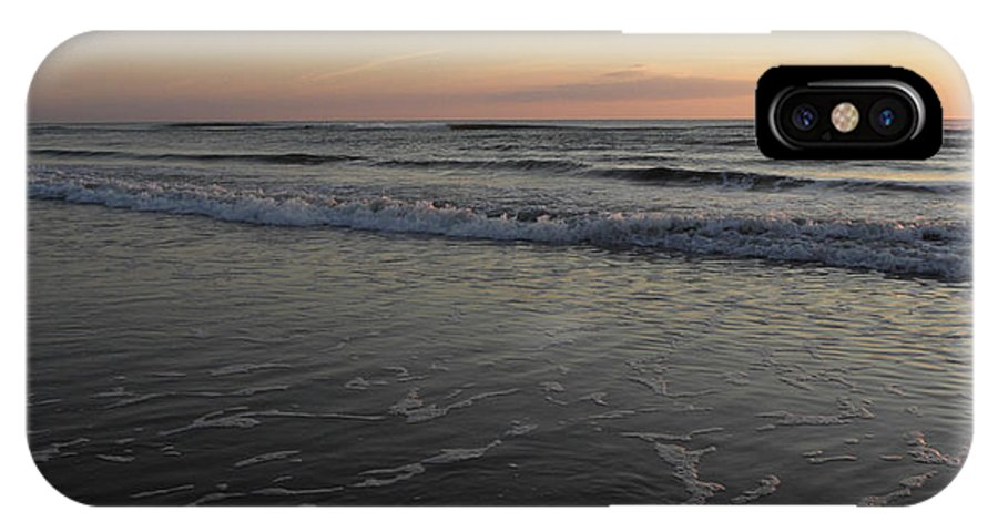 Sunrise IPhone X Case featuring the photograph High Tide Arising by Kim Galluzzo Wozniak