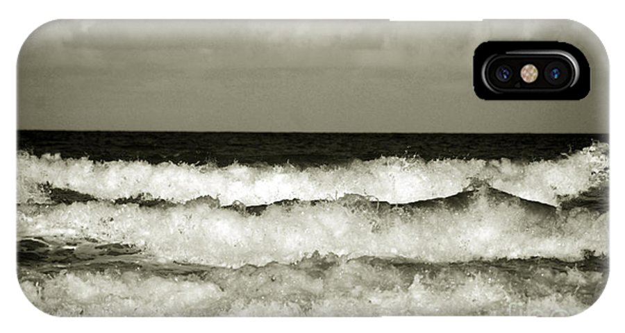Tide IPhone X Case featuring the photograph High Tide by Susanne Van Hulst