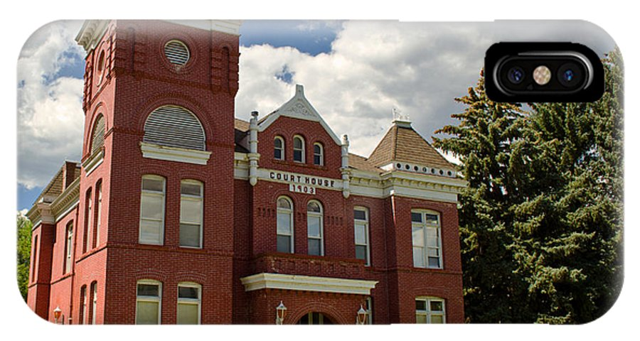 Courthouse IPhone X / XS Case featuring the photograph Historic Courthouse Marysvale Utah by Donna Greene