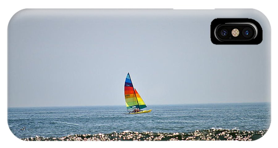 Beach Photographs IPhone X Case featuring the photograph Hobie Cat by Catherine Conroy