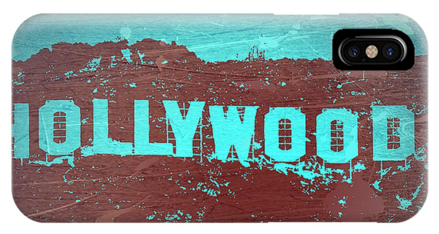 Hollywood Sign IPhone X Case featuring the photograph Hollywood Sign by Naxart Studio
