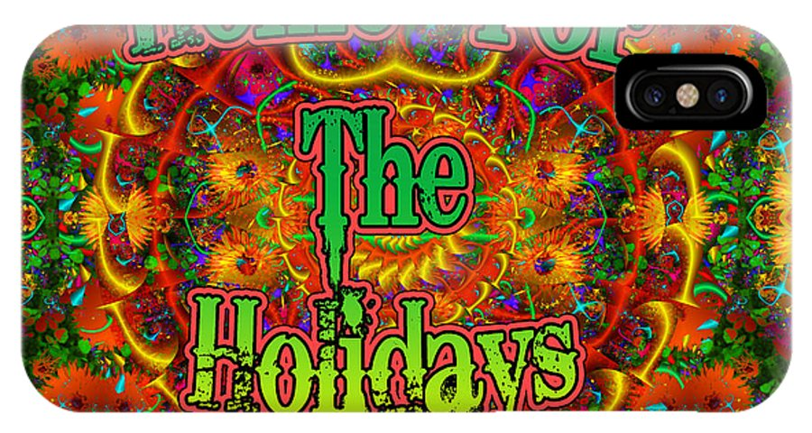 Winter IPhone X Case featuring the digital art Home For The Holidays by Robert Orinski
