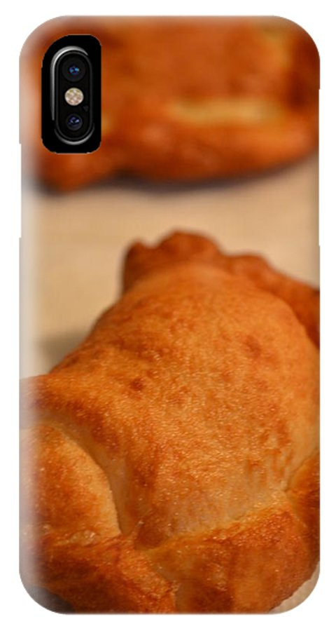 Fried IPhone X Case featuring the photograph Homemade Hot Pockets by Bonnie Myszka