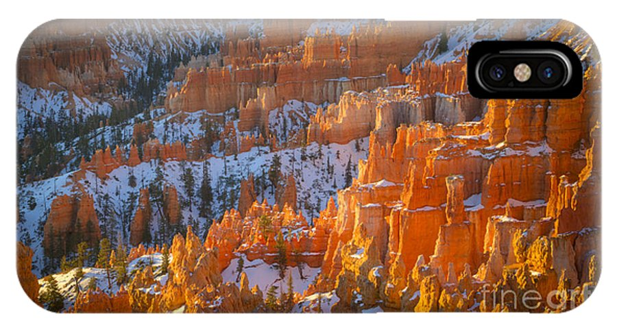 Bryce Canyon IPhone X Case featuring the photograph Hoodoo Light by Idaho Scenic Images Linda Lantzy