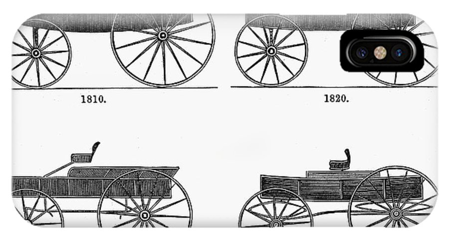 1820 IPhone X Case featuring the photograph Horse Carriages, 1810-1860 by Granger