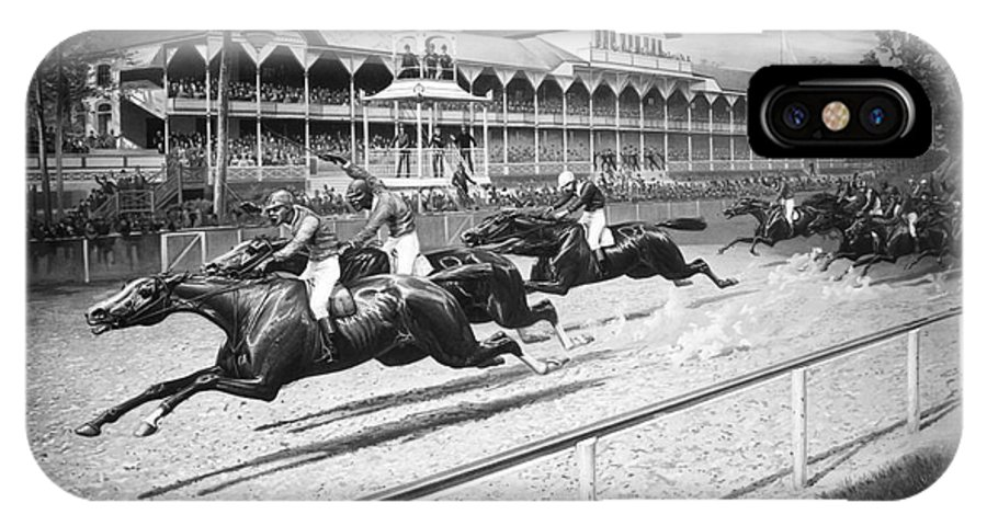 1889 IPhone X Case featuring the photograph Horse Racing, 1889 by Granger
