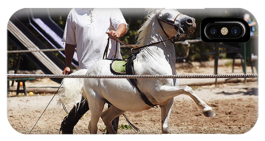 Caballo IPhone X Case featuring the photograph Horse Training by Agusti Pardo Rossello