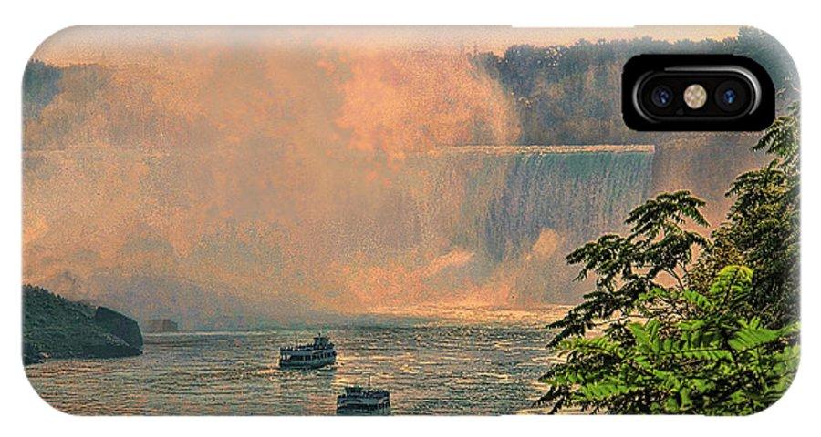 Niagara IPhone X Case featuring the photograph Horseshoe Falls Canadian Niagara Falls by Lawrence Christopher