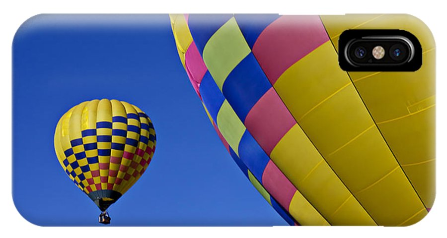 Hot Air Balloons IPhone X Case featuring the photograph Hot Air Balloons by Garry Gay