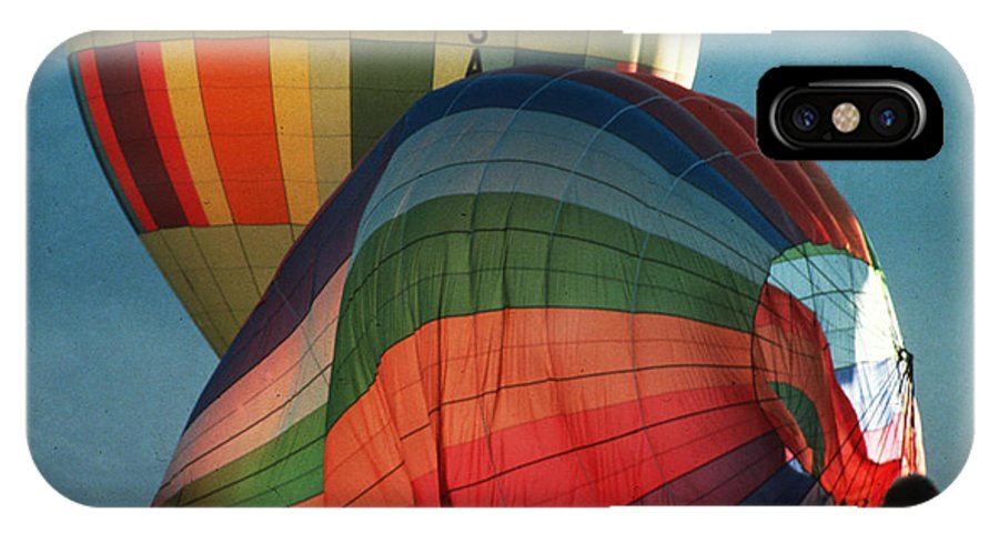 Inflate IPhone X Case featuring the photograph Hot Air Balloons In Albuquerque by Carl Purcell