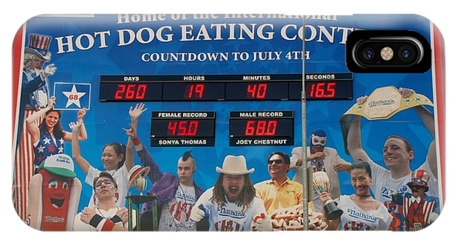 Brooklyn IPhone X Case featuring the photograph Hotdog Eating Contest Time by Rob Hans
