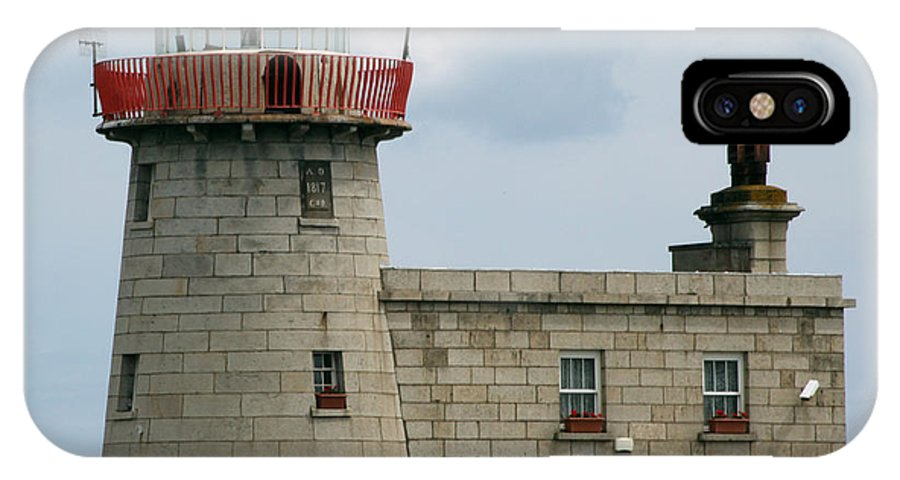 Howth Lighthouse IPhone X Case featuring the photograph Howth Lighthouse 0001 by Carol Ann Thomas