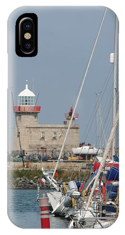 Howth Ireland IPhone X Case featuring the photograph Howth Lighthouse 0004 by Carol Ann Thomas