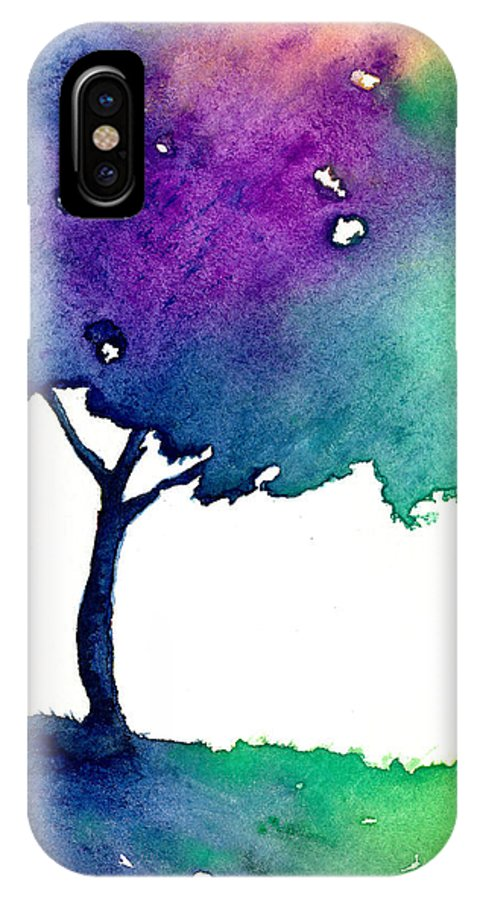 Tree IPhone X Case featuring the painting Hue Tree II by Brazen Design Studio
