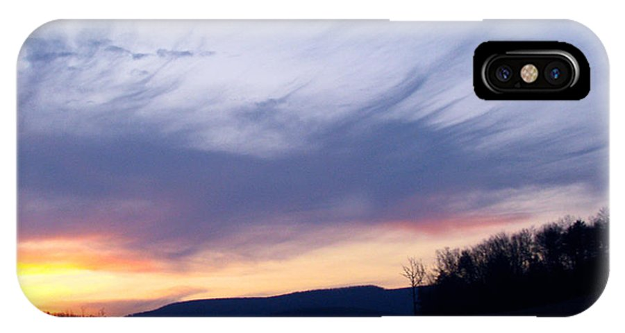 Sunset Lites IPhone X Case featuring the photograph Hues Of Sunset by Debra   Vatalaro