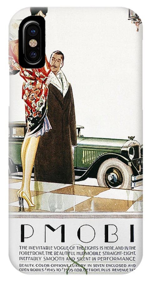 1926 IPhone X Case featuring the photograph Hupmobile Ad, 1926 by Granger
