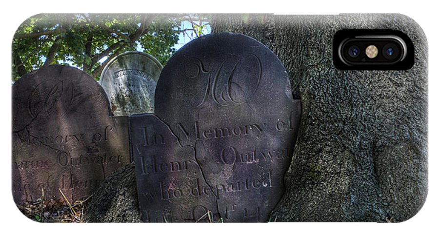 Lee Dos Santos IPhone X Case featuring the photograph Husband And Wife Together Forever - Belleville Dutch Reformed Church - Husband And Wife Grave by Lee Dos Santos