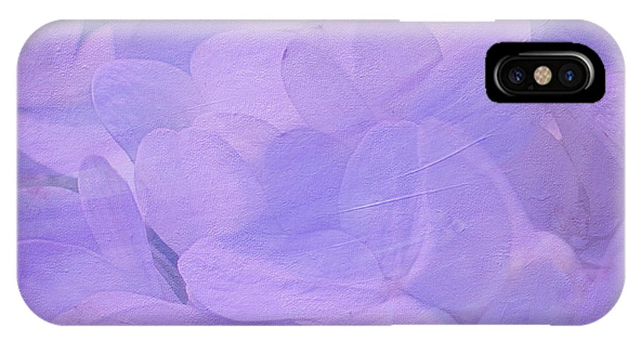Violet IPhone X Case featuring the photograph Hydrangea Whispers by Judi Bagwell