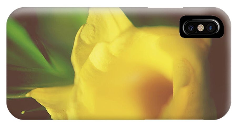Flower IPhone X Case featuring the photograph I Have Been Waiting For You by Laurie Search