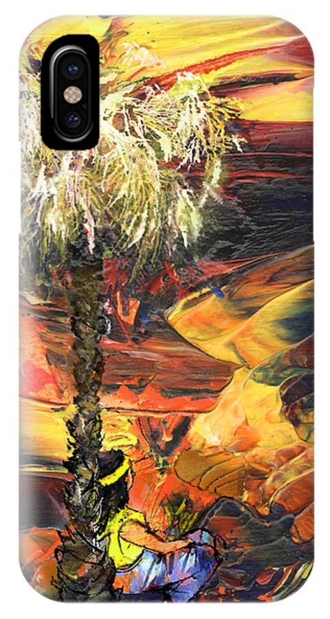 Dream IPhone X Case featuring the painting I Wish I Were There by Miki De Goodaboom