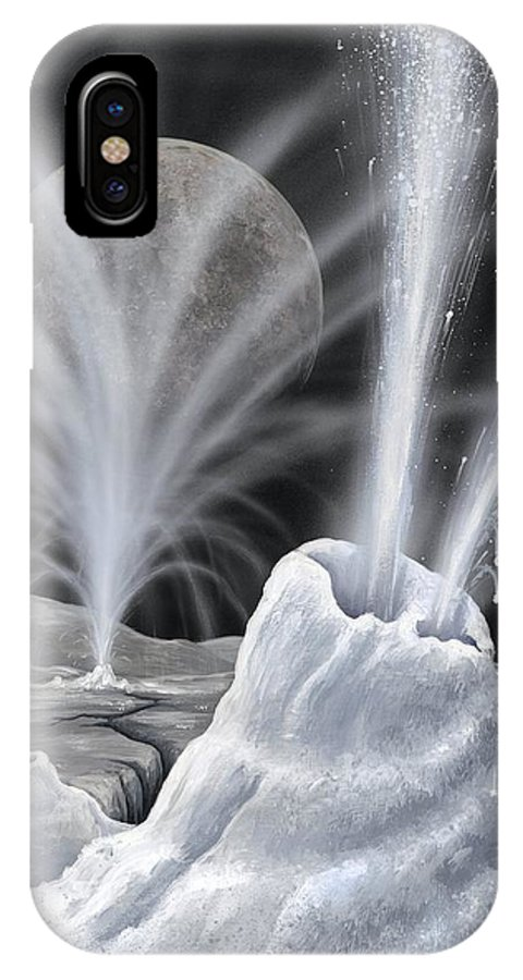 Charon IPhone X / XS Case featuring the photograph Ice Volcanoes On Charon, Artwork by Richard Bizley