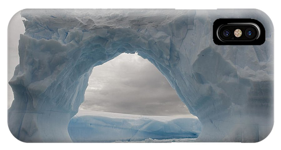 Mp IPhone X Case featuring the photograph Iceberg With A Natural Arch, Antarctic by Flip Nicklin