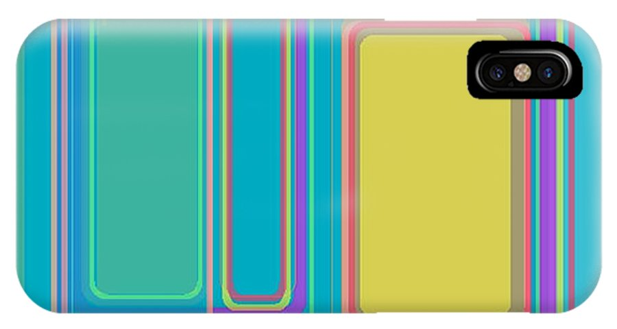Ideal Forms IPhone X / XS Case featuring the painting Ideal Forms by Naomi Jacobs