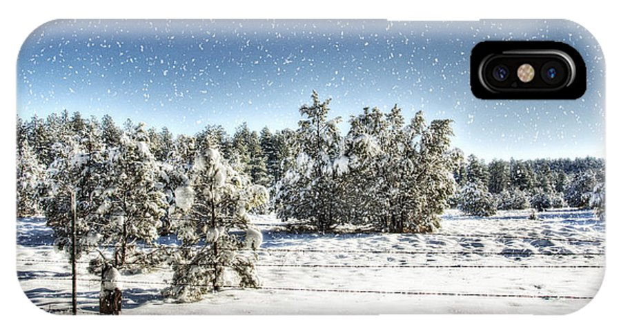 Winter IPhone X Case featuring the photograph I'm Dreaming Of A White Christmas by Saija Lehtonen