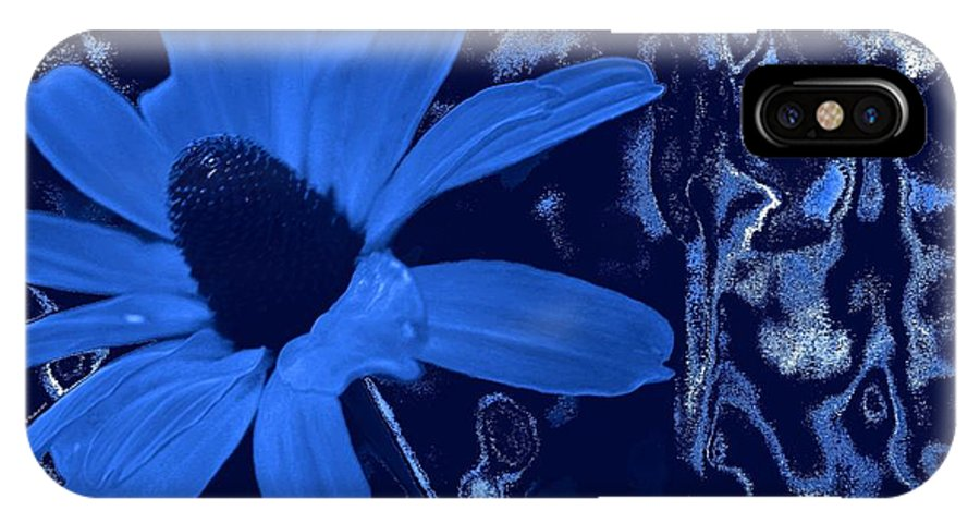 Coneflower IPhone X Case featuring the photograph I'm So Blue by Betty Northcutt