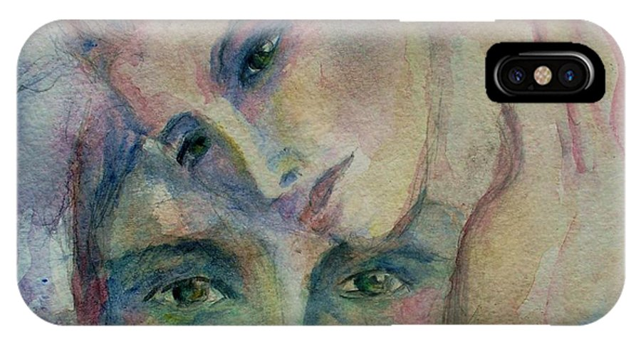 Watercolor IPhone X Case featuring the painting In His Eyes... by Robin Monroe