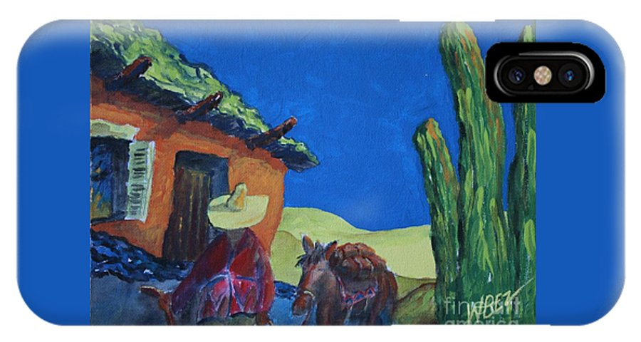 Desert IPhone X Case featuring the painting In Search Of Gold by William Bezik