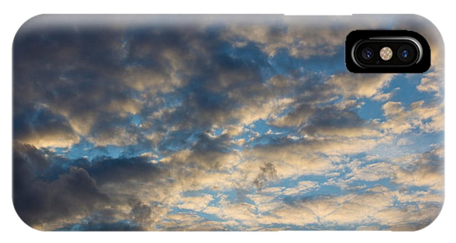 Clouds IPhone X / XS Case featuring the photograph In The Clouds by David Pyatt