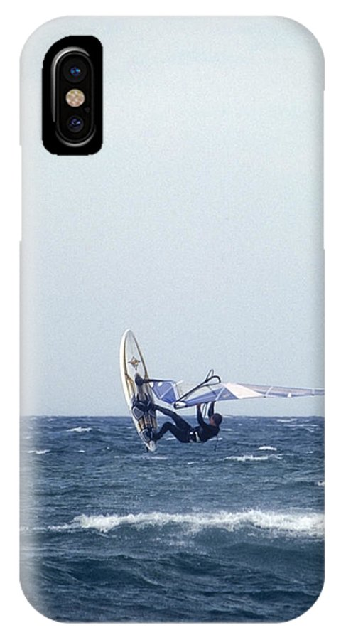 Sea IPhone X Case featuring the photograph In The Wind by Patrick Kessler