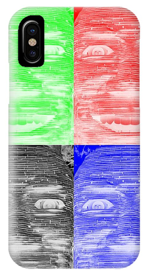 Architecture IPhone X / XS Case featuring the photograph In Your Face In Negative Colors by Rob Hans