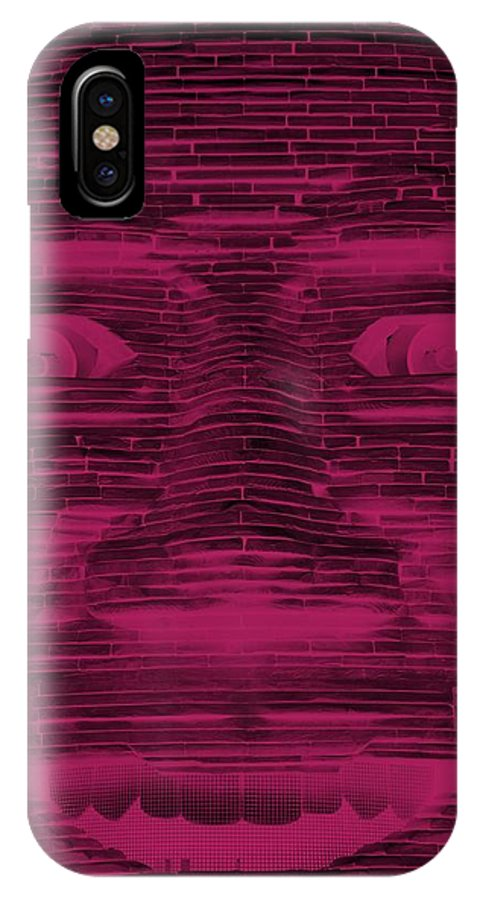 Architecture IPhone X / XS Case featuring the photograph In Your Face In Negative Hot Pink by Rob Hans