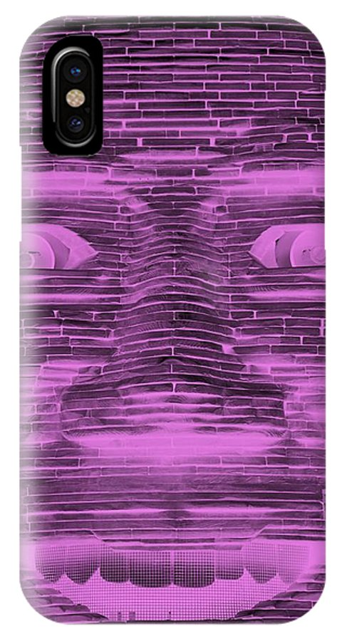 Architecture IPhone X / XS Case featuring the photograph In Your Face In Negative Light Pink by Rob Hans