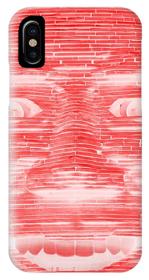 Architecture IPhone X / XS Case featuring the photograph In Your Face In Negative Red by Rob Hans