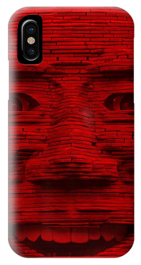 Architecture IPhone X / XS Case featuring the photograph In Your Face In Red by Rob Hans