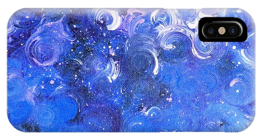 Moody Blues IPhone X Case featuring the painting In Your Wildest Dreams by Alys Caviness-Gober