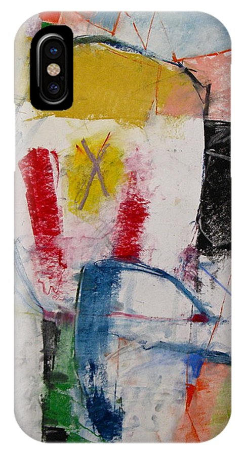 Abstract IPhone X Case featuring the mixed media Inaugural Page by Cliff Spohn