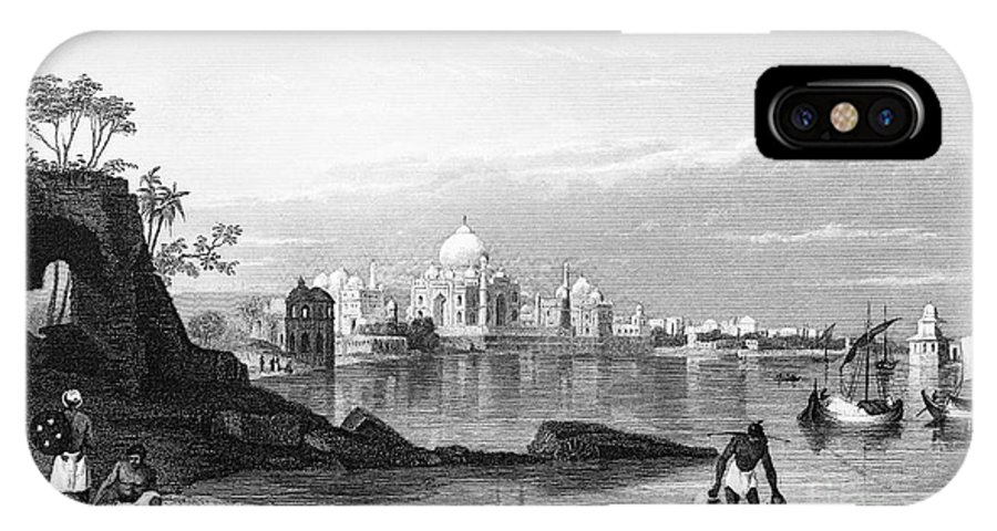 1860 IPhone X Case featuring the photograph India: Taj Mahal, C1860 by Granger