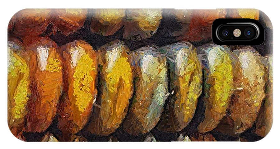 Corn IPhone X Case featuring the digital art Indian Corn by Dragica Micki Fortuna