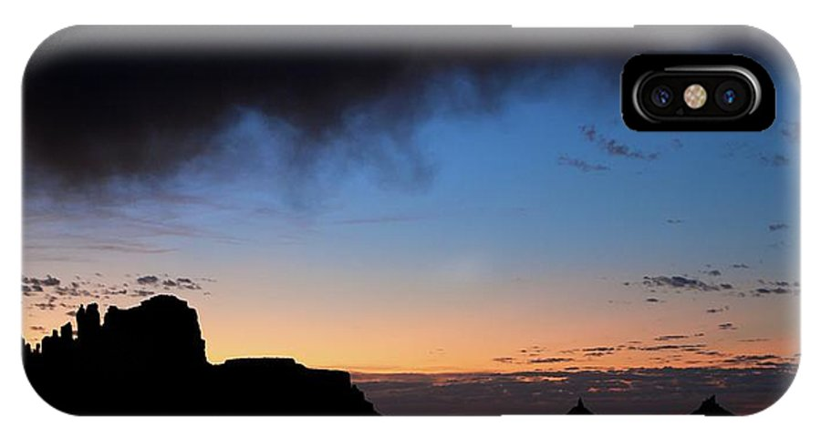 Indian Creek IPhone X Case featuring the photograph Indian Creek Sihlouette by Chris Anthony
