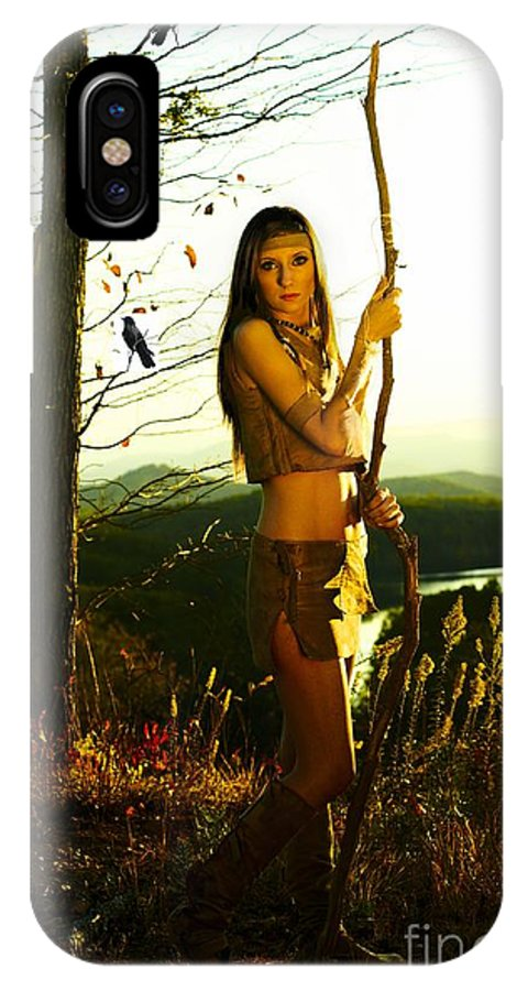 Indian IPhone X Case featuring the photograph Indian Girl With Crows by Simon Griffiths