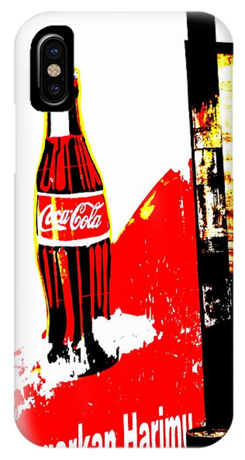 Bali IPhone X Case featuring the photograph Indonesian Coke Ad by Funkpix Photo Hunter