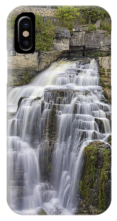 Canvas IPhone X / XS Case featuring the photograph Inglis Falls by Phill Doherty