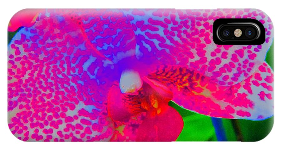 Flower IPhone X Case featuring the photograph Inner Beauty - Orchid - Gardens by Susan Carella